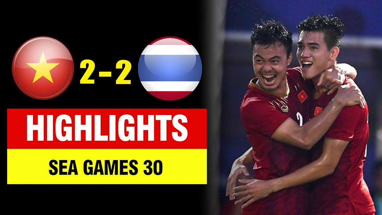 Highlights Việt Nam 2-2 Thái Lan   Tiến Linh là người hùng - U22 Việt Nam tiễn Thái Lan về nước