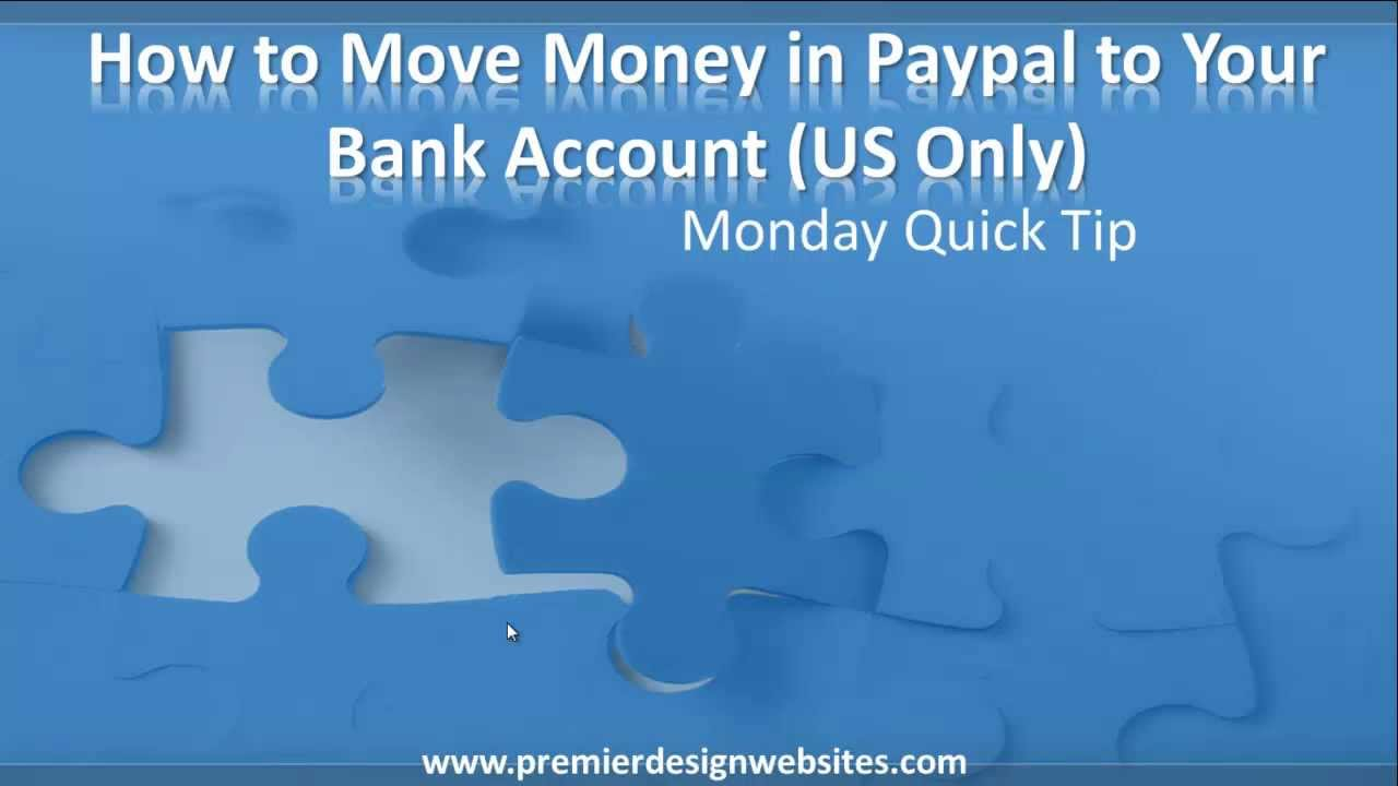 How To Move or Transfer Money from Paypal to Your Bank Account - YouTube