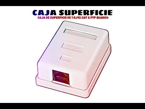 Video de Caja de superficie de 1 RJ45 Cat 6 FTP  Blanco