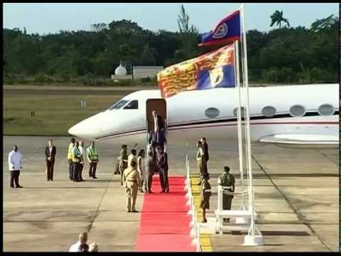 Prince Harry Arrival to Belize at PGIA