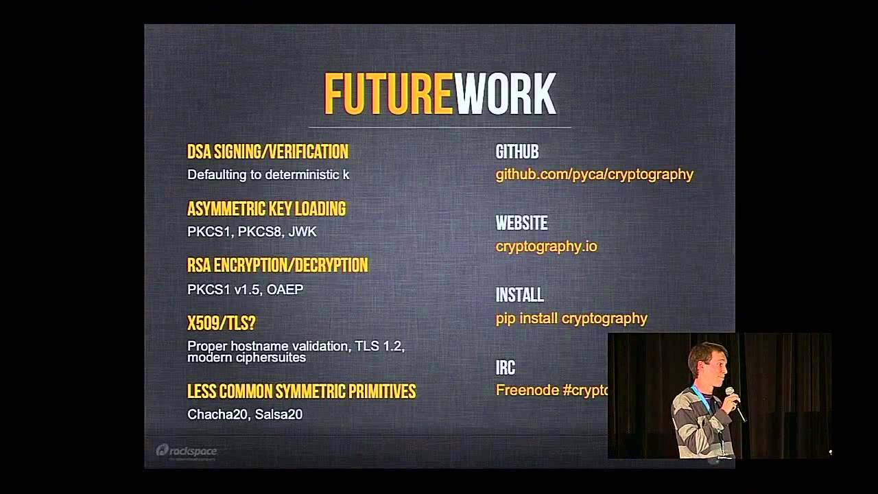 Jarret Raim, Paul Kehrer: The State of Crypto in Python - PyCon 2014