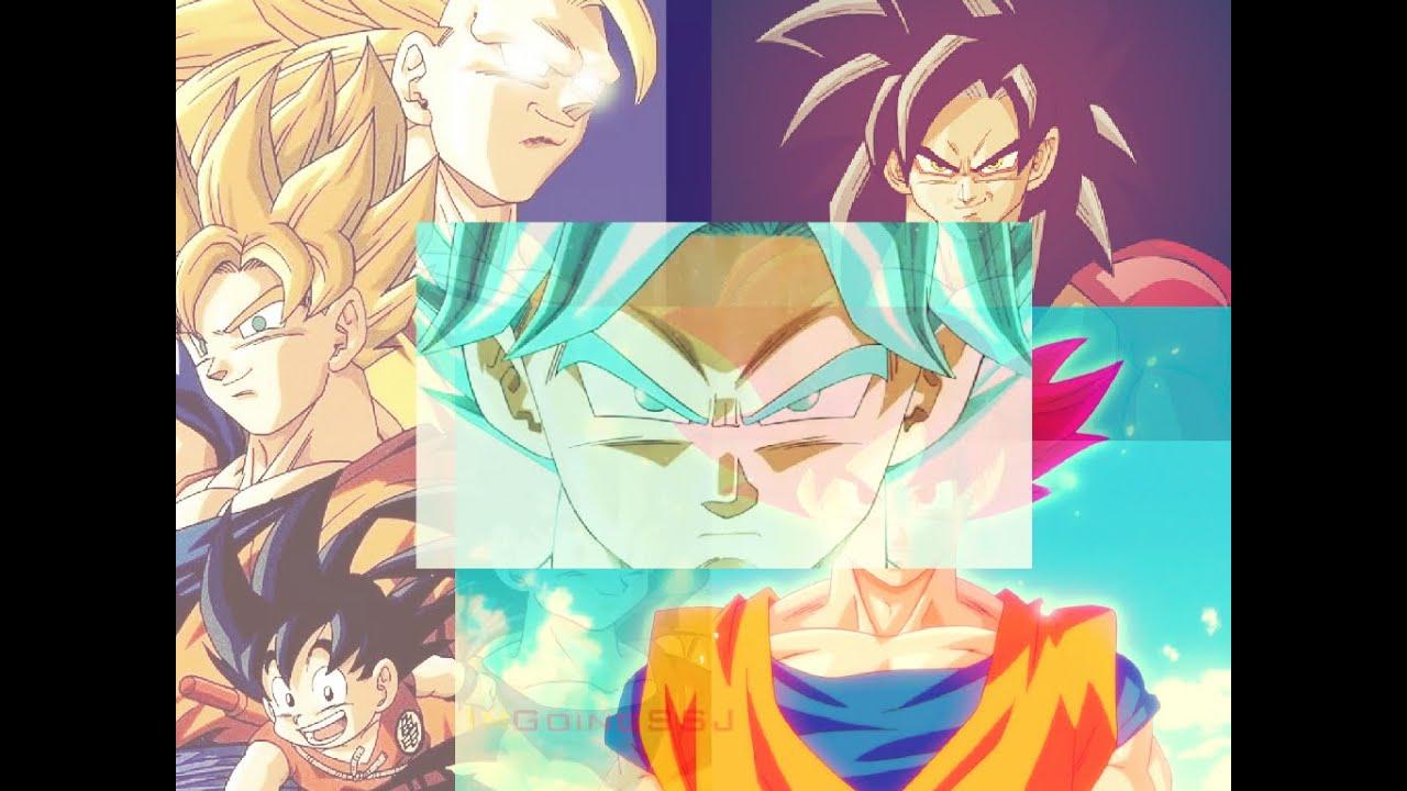 (EXPLICADO) Todas Las Transformaciones de Goku hasta llegar al Super Saiyan  Dios Super Saiyan