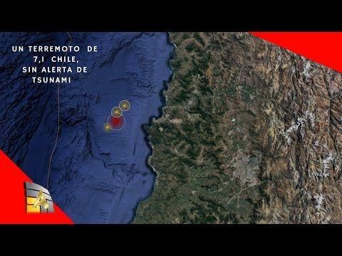 Un terremoto  de magnitud 7,1 sacude Chile, sin alerta de Tsunami