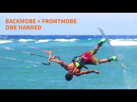 Kiteboarding Tricks: One Handed Back Mobe + Front Mobe by Luis Alberto Cruz