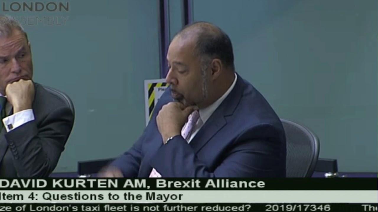 The black cab fleet is rapidly diminishing since you became Mayor says David Kurten.