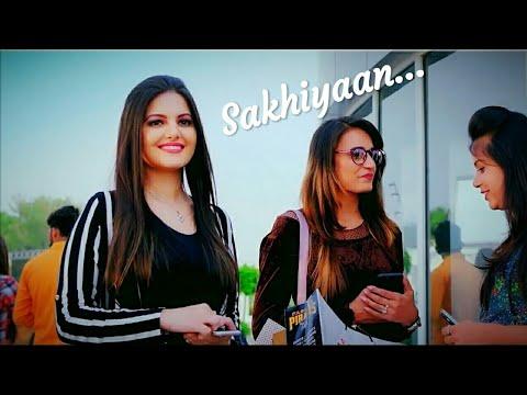 Sakhiyan Status 💑  Female Version | Manindar Buttar |💕 Punjabi Song 2019 | New Whatsapp Status❤