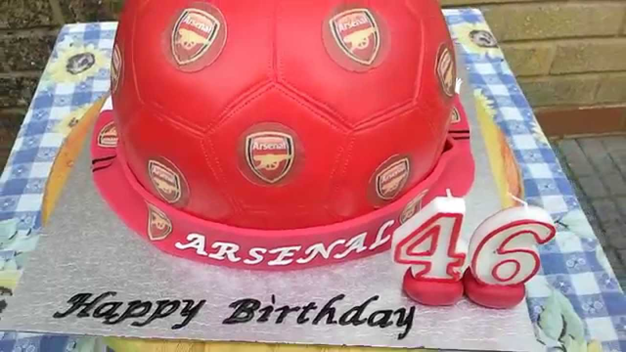 Arsenal Cake YouTube
