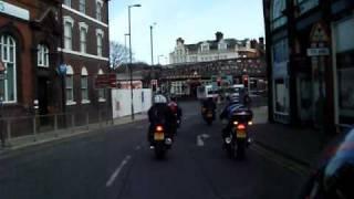 stoke-on-trent  charity run easter 2010  (Longton) motorcyclist イギリス バイクチャリティー