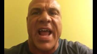 Kurt Angle giving Catfish Cooley a shout out