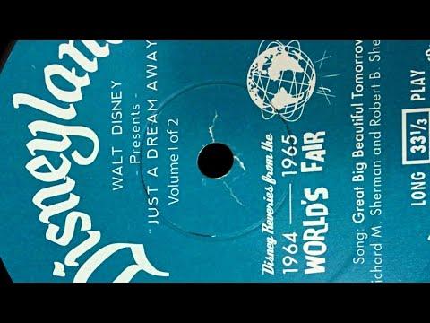 EVIDENCE: Hidden PLUS ULTRA Society Audio on Disney 1964 World's Fair Vinyl Record LP