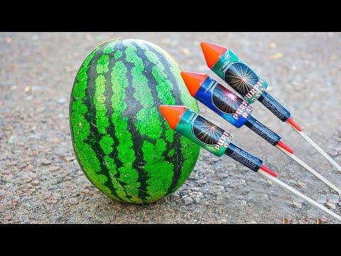 Experiment: Rockets vs Watermelon