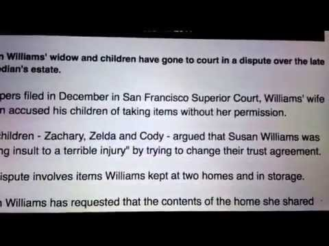 Ex wife of robin Williams takes a shit on his kids