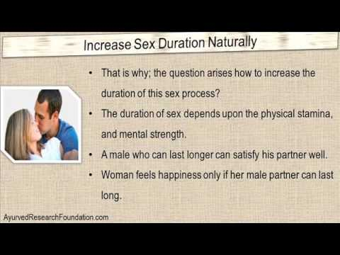 How To Increase Intercourse Duration Naturally