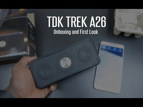 TDK A26 Trek Weatherproof NFC Portable Bluetooth Stereo Speaker