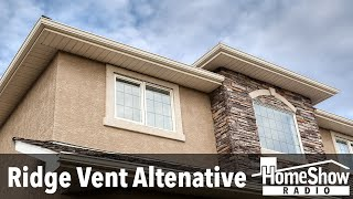 What are recommended attic ventilation options aside from ridge vents