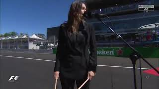 Francesca Michielin sings the Italian National Anthem @ #ItalianGP [Formula 1]