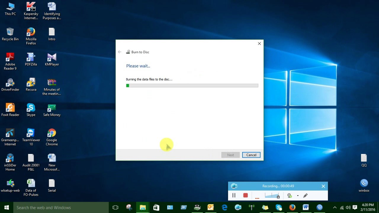 How to burn a CD with Windows 10