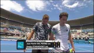 Juan Martin Del Potro v Sergiy Stakhovsky highlights - Apia International Sydney 2015