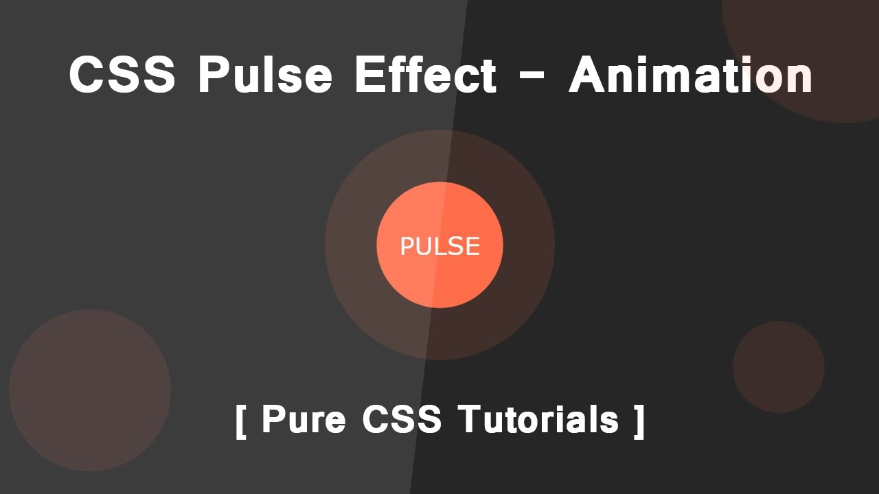 Pulse Effect With CSS3 Animation - Pure Css Tutorials
