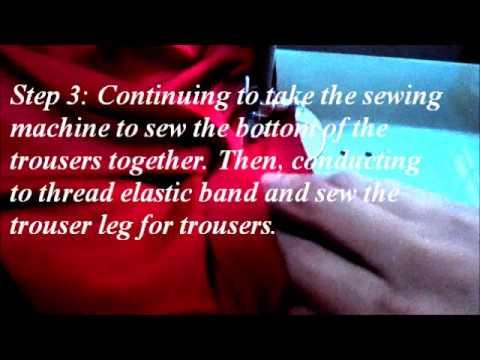 Tự may quần ngố cullotes màu đỏ đi dạo phố – Sew red cullotes pants by myself walking through town