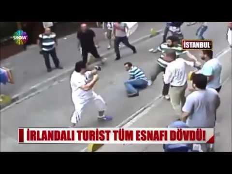 İrlandalı Boksör Turist Tüm Esnafı Dövdü