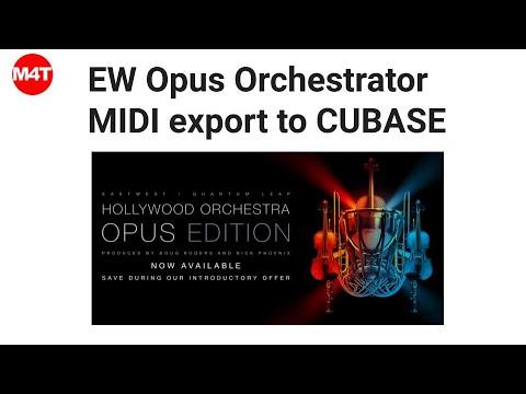 EW Opus Orchestrator MIDI export vers CUBASE (version Française)