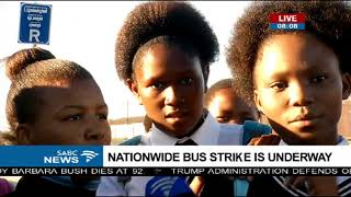 Nationwide bus strike leave commuters stranded