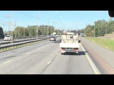 Driving from Stockholm, Sweden to the Arlanda Airport