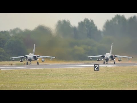 Panavia Tornado IDS German Air Force Luftwaffe departure at RIAT 2015 AirShow