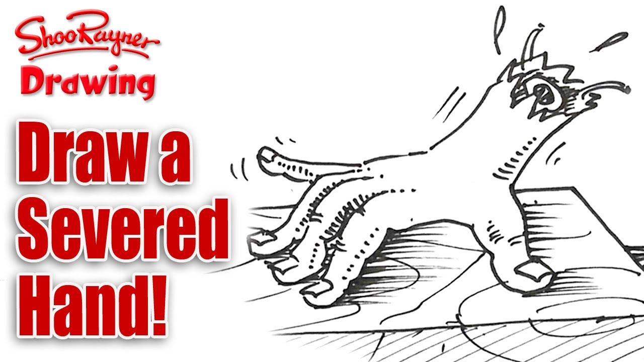 How to draw a Severed Hand - Spoken Tutorial for Halloween ...