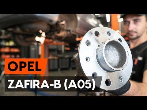 How to change rear wheel bearing / rear hub bearing onOPEL ZAFIRA-B 2 (A05) [TUTORIAL AUTODOC]