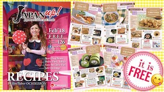 "My Recipes will be Published in a Monthly ""Japan Up! Magazine"" 💕 