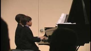 Ben & Jordan Gottesman Piano Duet - Jolly Old Saint Nicholas