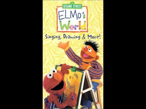 Elmo S World Singing Drawing More 2000 Vhs