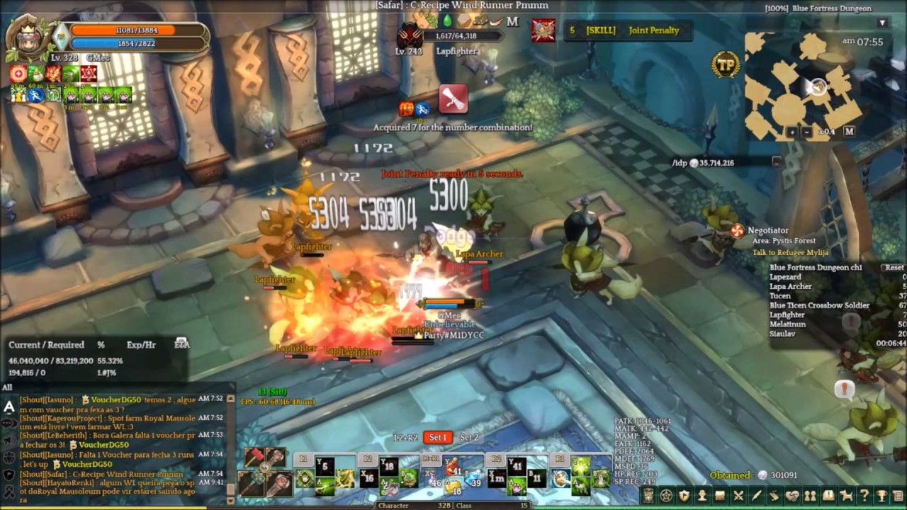 tree of savior wizard dagger blue fortress 240 dungeon full run
