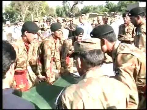 Captain Irfan Ahmad Khan Shaheed of 34 FF Pak Army Nimaz-e ...
