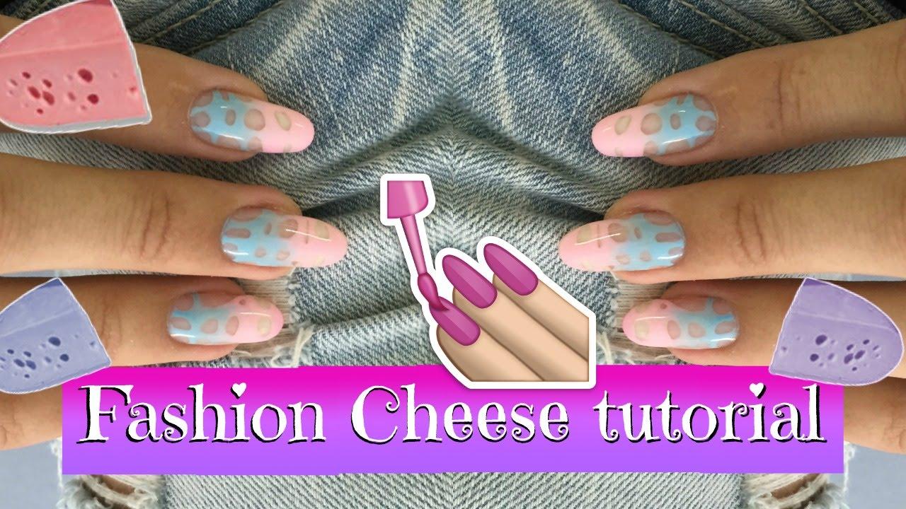 Fashion Cheese Nail Art Tutorial Easy Nail Design Idea With Gel