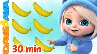 🍌One Banana, Two Bananas | Numbers and Counting | Baby Songs by Dave and Ava 🍌