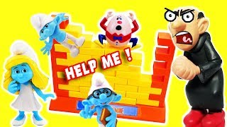Smurfs Wall Game with Gargamel & The Smurfs Smurfette, Brainy and Clumsy! thumbnail