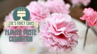 Flowerpaste carnations how to make sugar craft fondant carnations tutorial cake carnation
