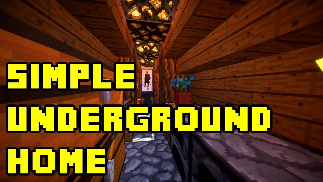 Minecraft Simple Underground HouseBase Tutorial XboxPCPEPS3