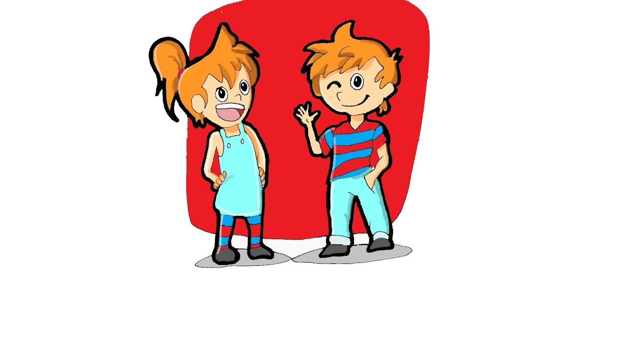 How to Draw Twin Boy and Girl