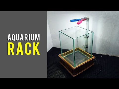 How to Make Aquarium Rack from Wood and Bamboo for Fish Tanks with a Size of 15 x 15 x 20 cm