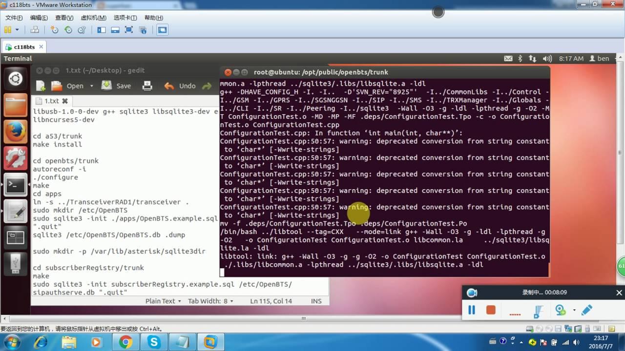 osmocom+c118+openbts send sms(伪基站)