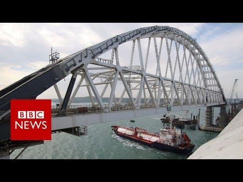 Controversial Russia-Crimea bridge opens - BBC News