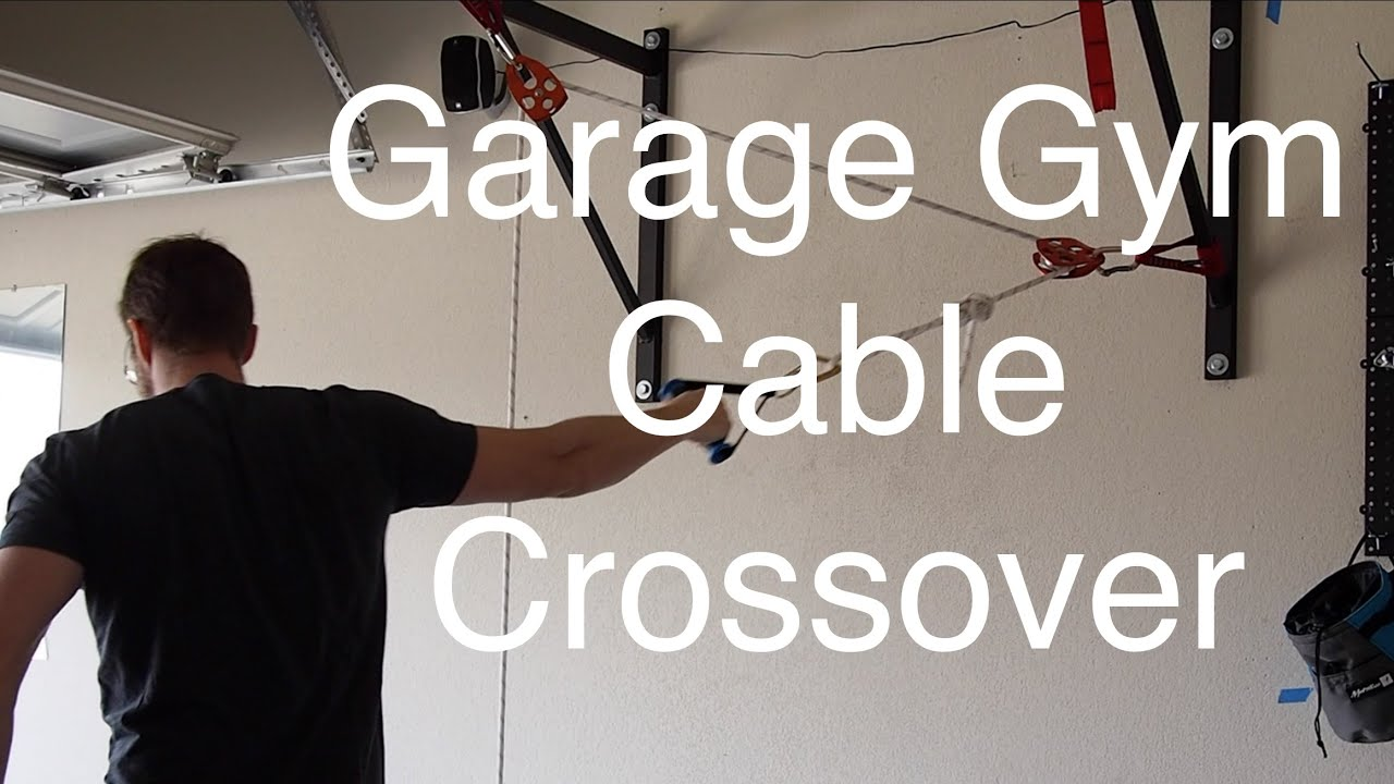 Garage gym cable crossover youtube