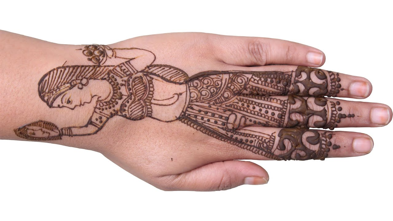 Bridal Mehndi In Jalandhar : Karwa chauth mehndi design looking through sieve youtube