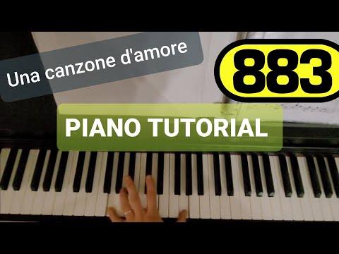 883 - Max Pezzali - Una canzone d'amore piano tutorial
