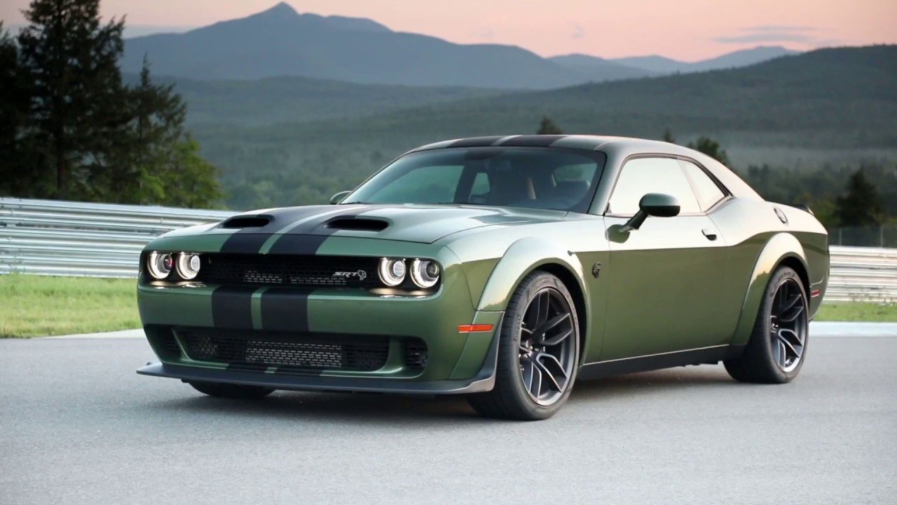 2019 Dodge Challenger Srt Hellcat Redeye Widebody Green Youtube