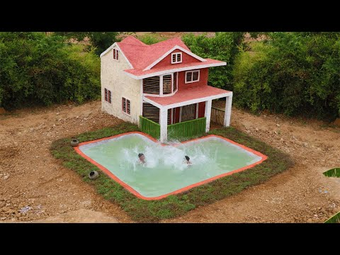 building-the-most-beautiful-villa-house-and-underground-swimming-pool-for-summer-(full-video)